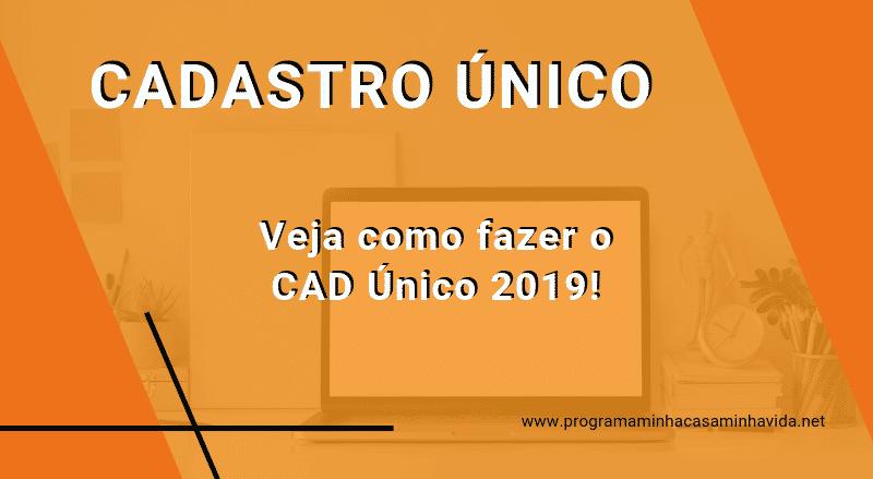 Cadastro Único CAD Único 2019